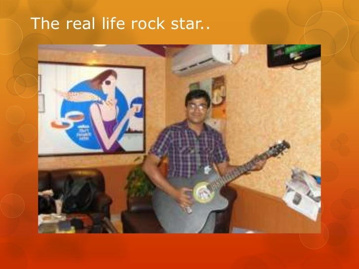 The real life rock star..