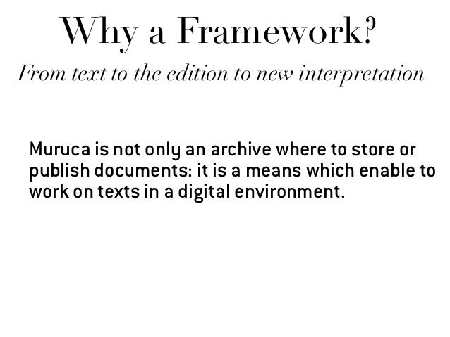 """Why a Framework? - Lego bricks - Tailor made but ready to be """"turnkeys"""" - a basic principle: open science"""