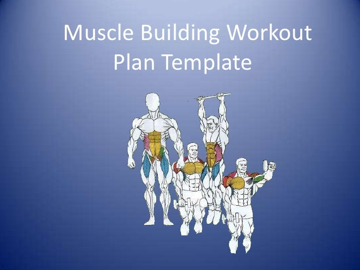 Muscle building workout plan template