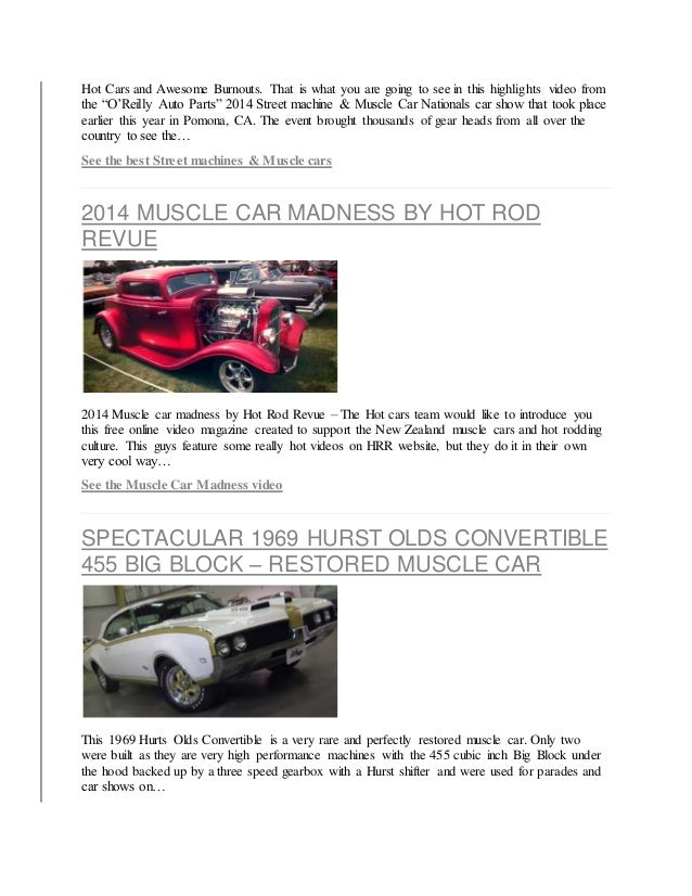 Topics related to Muscle cars