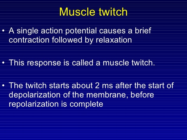 effect of temperature on simple muscle twitch
