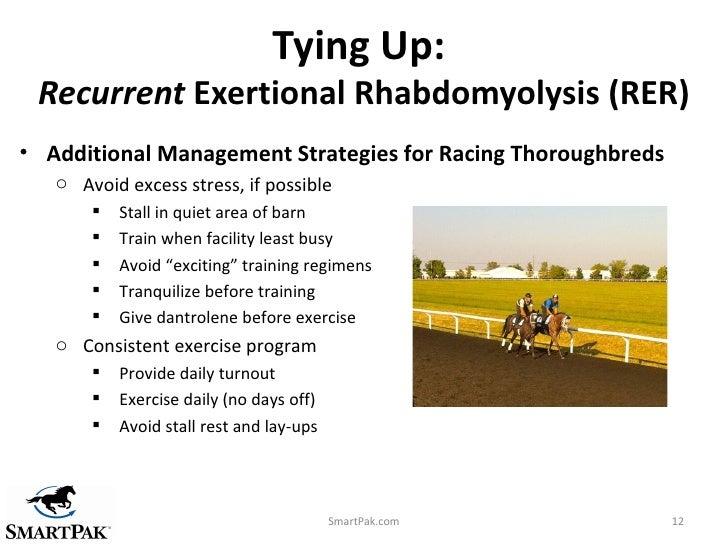 horse exertional rhabdomyolysis essay Topic: incidence of exertional rhabdomyolysis in emus (dromaius novaehollandiae) consequent to transport for six hours incidence of exertional rhabdomyolysis in emus (dromaius.