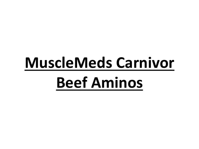 MuscleMeds Carnivor Beef Aminos
