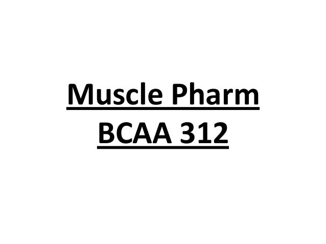 Muscle Pharm BCAA 312