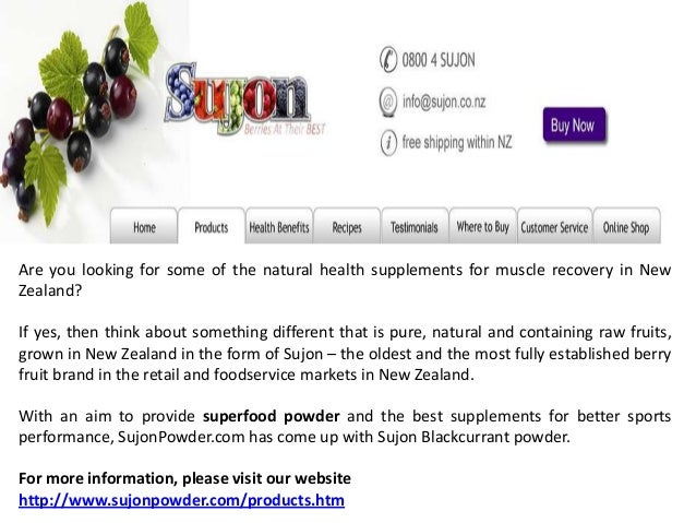 Are you looking for some of the natural health supplements for muscle recovery in New Zealand? If yes, then think about so...
