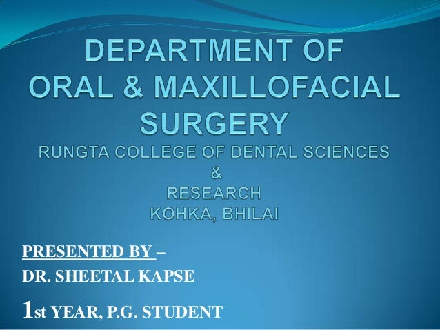 PRESENTED BY –DR. SHEETAL KAPSE1st YEAR, P.G. STUDENT