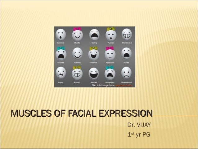 MUSCLES OF FACIAL EXPRESSION Dr. VIJAY 1st yr PG