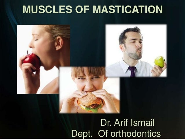 MUSCLES OF MASTICATION  Dr. Arif Ismail Dept. Of orthodontics