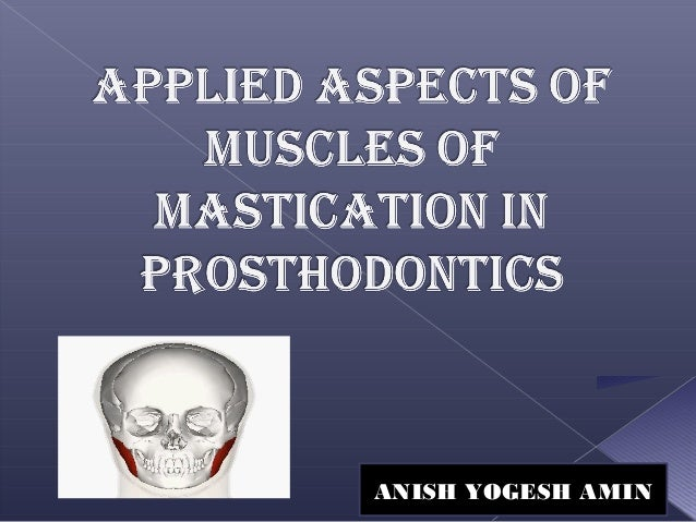 Muscles of mastication ppt