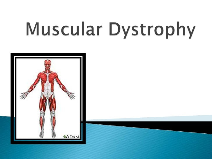 Muscular Dystrophy is a group ofdisorders, including muscle weakness andloss of muscle tissue.