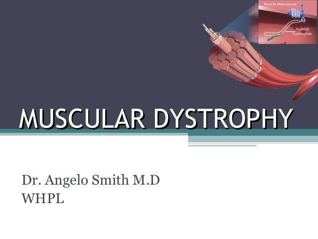 MUSCULAR DYSTROPHYMUSCULAR DYSTROPHY Dr. Angelo Smith M.D WHPL