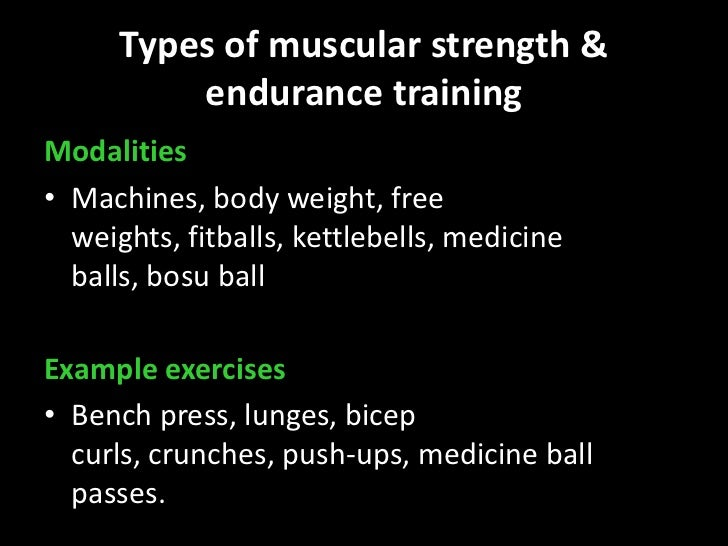 Muscular Strength Endurance