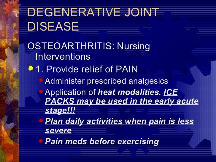 nursing interventions for osteoarthritis