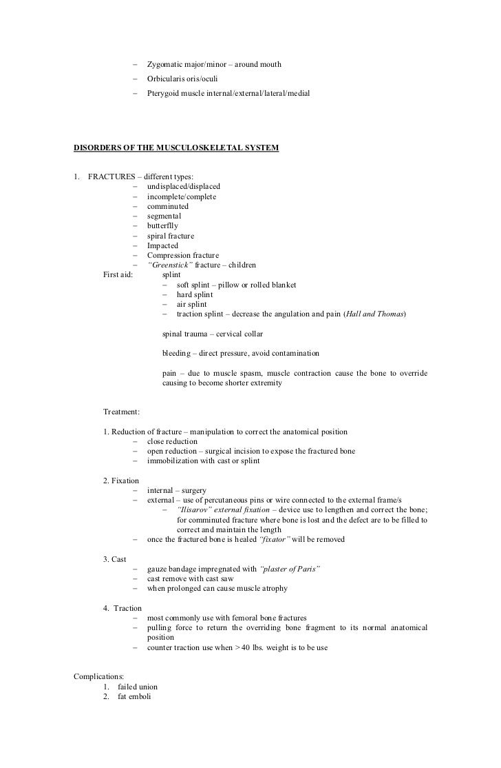 Musculo Skeletal Handouts