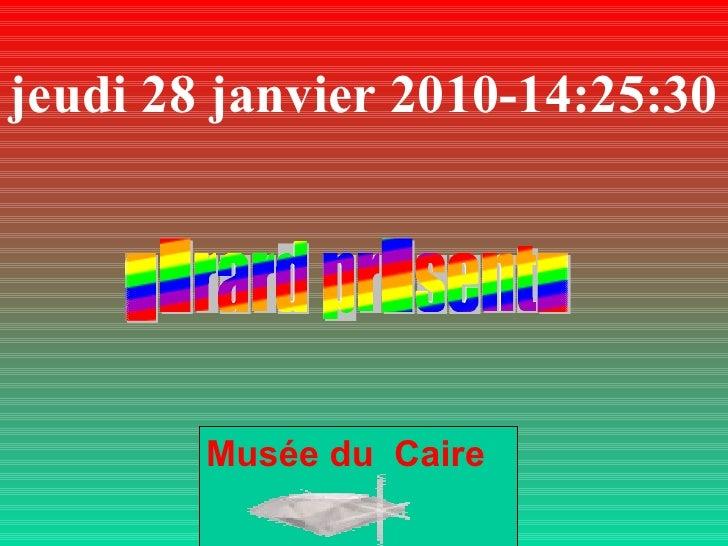 jeudi 28 janvier 2010 - 14:25:10 Musée du  Caire