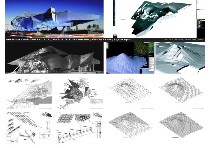 MUSEE DES CONFLUENCES : LYON / FRANCE ; HISTORY MUSEUM ; TENDER PHASE ; 60,000 Sqmtr   Nov 2002 - April 2004 / Kauntey Sha...