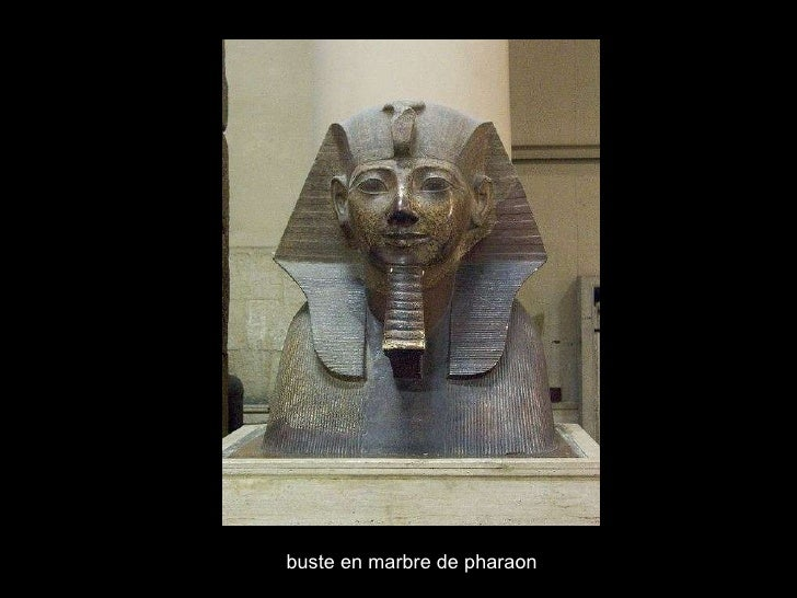 buste en marbre de pharaon