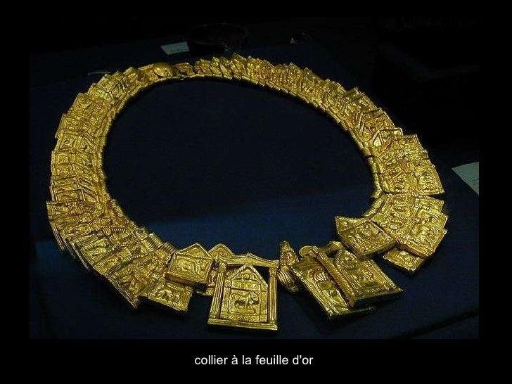 collier  à la  feuille d'or