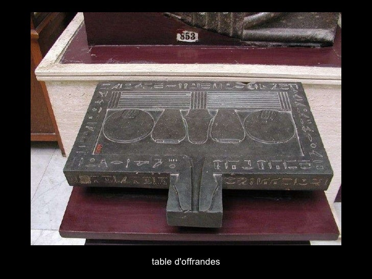 table d'offrandes
