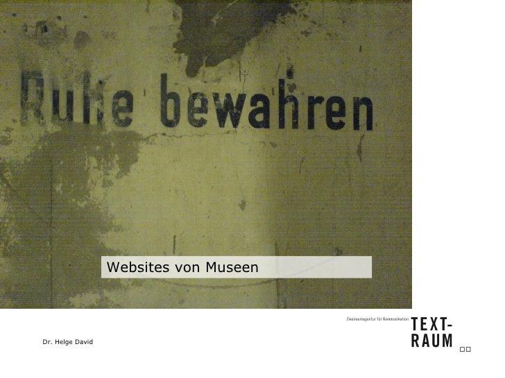 Websites von Museen