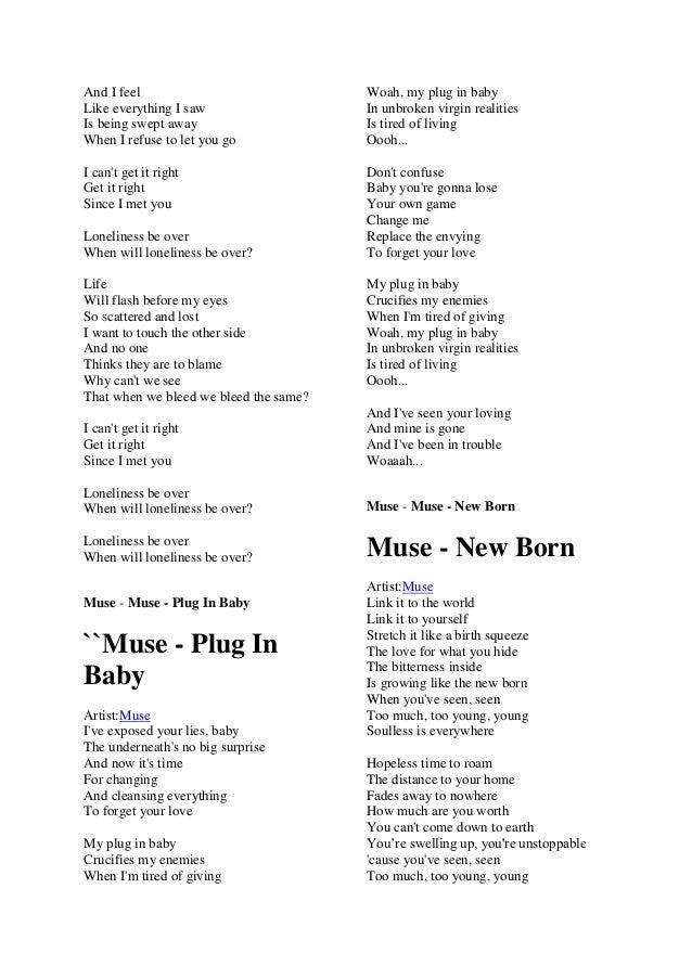 Lyric if you go away lyrics : Muse lyric