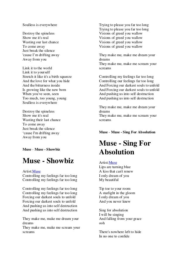 Lyric come away with me lyrics : Muse lyric