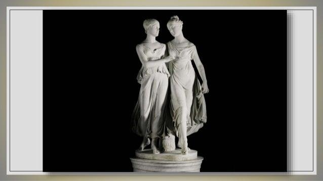 Pandora. John Gibson. Mármol. 1860. Diana cazadora. Giovanni Benzoni. Mármol. 1859.