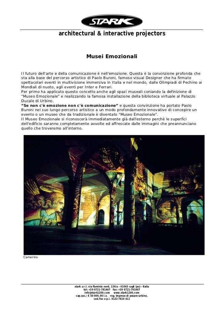 architectural & interactive projectors                                      Musei EmozionaliIl futuro dellarte e della com...