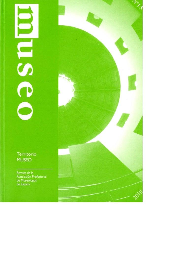 Museo. Revista  nº 15, 2010