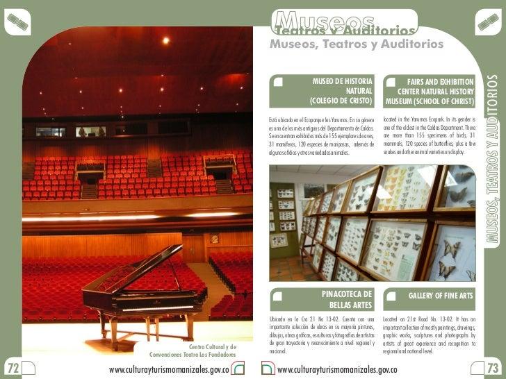 Museos                                                        Teatros y Auditorios                                        ...