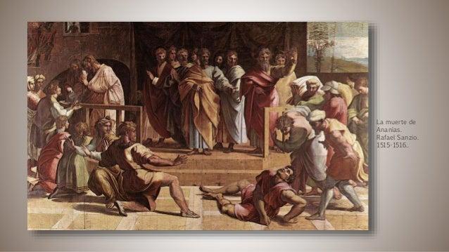 La muerte de Ananías. Rafael Sanzio. 1515-1516..