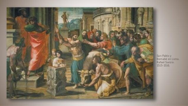 San Pablo y Bernabé en Listra. Rafael Sanzio. 1515-1516.