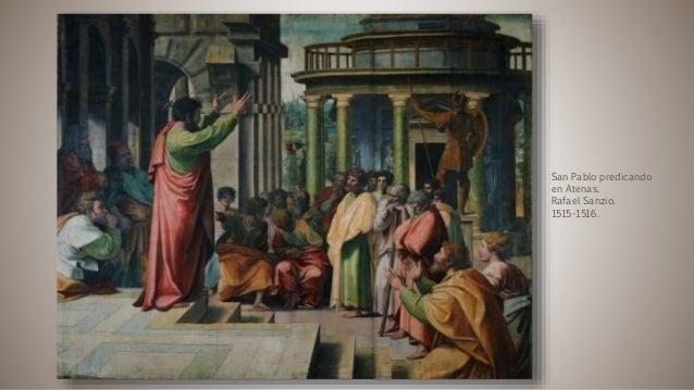 San Pablo predicando en Atenas. Rafael Sanzio. 1515-1516.