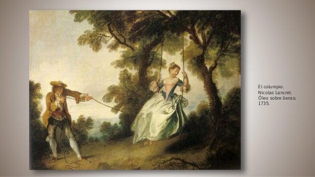 El columpio. Nicolas Lancret. Óleo sobre lienzo. 1735.