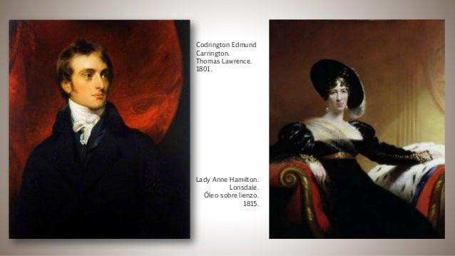 Lady Anne Hamilton. Lonsdale. Óleo sobre lienzo. 1815. Codrington Edmund Carrington. Thomas Lawrence. 1801.