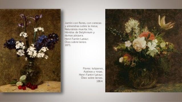 Jarrón con flores, con cerezas y almendras sobre la mesa; Naturaleza muerta: Iris, híbridos de Delphinium y damas púrpura....