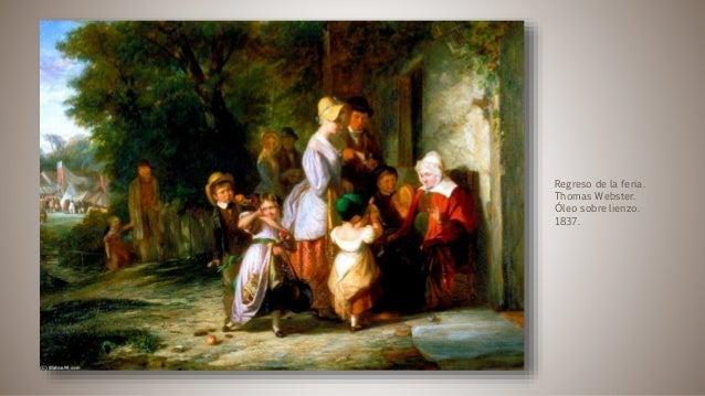 Regreso de la feria. Thomas Webster. Óleo sobre lienzo. 1837.