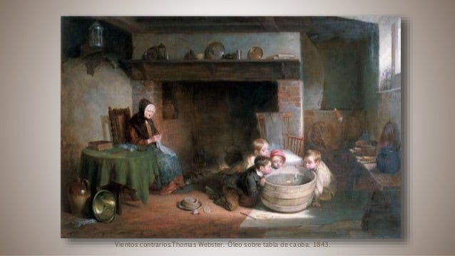 Vientos contrarios.Thomas Webster. Óleo sobre tabla de caoba. 1843.