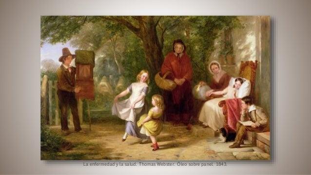 La enfermedad y la salud. Thomas Webster. Óleo sobre panel. 1843.