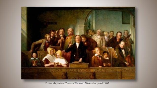 El coro de pueblo. Thomas Webster. Óleo sobre panel. 1847.