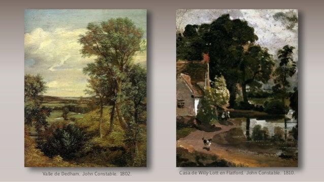 Casa de Willy Lott en Flatford. John Constable. 1810.Valle de Dedham. John Constable. 1802.