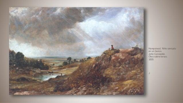 Hampstead. Niño sentado en un banco. John Constable. Óleo sobre lienzo. 1819. J