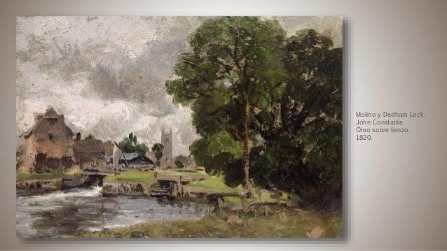 Molino y Dedham Lock. John Constable. Óleo sobre lienzo. 1820.