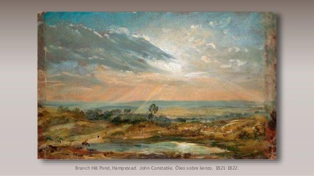 Branch Hill Pond, Hampstead. John Constable. Óleo sobre lienzo. 1821-1822.
