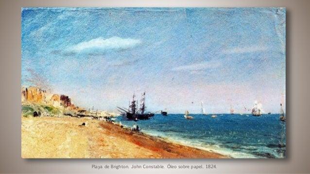 Playa de Brighton. John Constable. Óleo sobre papel. 1824.