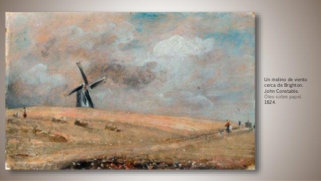 Un molino de viento cerca de Brighton. John Constable. Óleo sobre papel. 1824.
