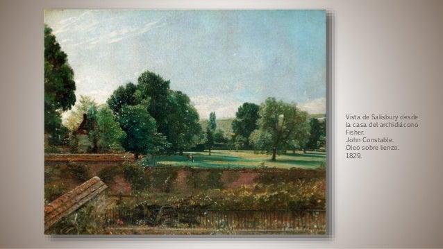 Vista de Salisbury desde la casa del archidiácono Fisher. John Constable. Óleo sobre lienzo. 1829.