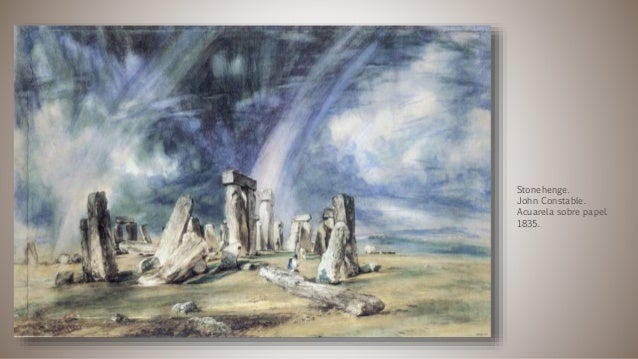Stonehenge. John Constable. Acuarela sobre papel. 1835.