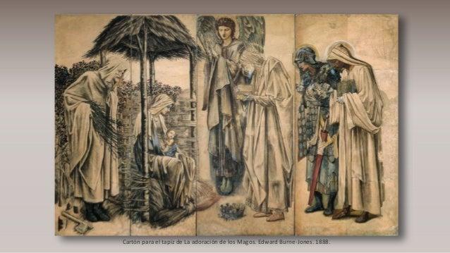 Cartón para el tapiz de La adoración de los Magos. Edward Burne-Jones. 1888.
