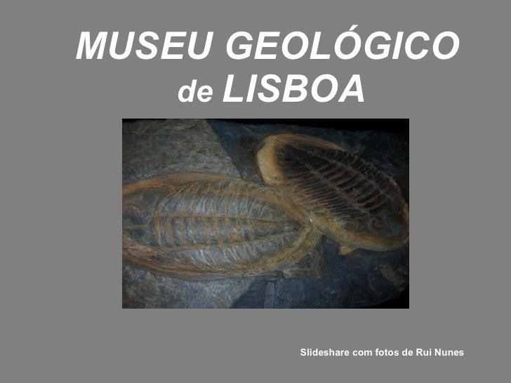 MUSEU GEOLÓGICO   de  LISBOA Slideshare com fotos de Rui Nunes